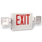 Red Exit / Emergency light supplied by Fire Extinguishers Chicago, protectco inc
