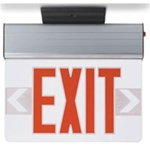 Red LED Edge lit exit sign supplied by Fire Extinguishers Chicago, protectco inc