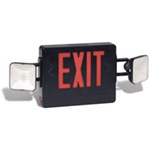 LED Black Emergency / Exit light supplied by Fire Extinguishers Chicago, protectco inc