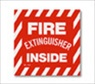 14X4 inches Self Adhesive Fire Extinguisher Inside sign
