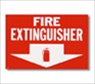 "12"" x 8"" Self Adhesive Fire Extinguisher Sign"