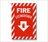 "8"" x 12 "" Self Adhesive Fire Extinguisher Sign"