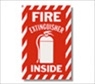 "6"" x 9 "" Self Adhesive Fire Extinguisher Inside Sign"