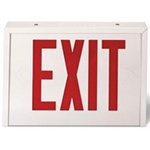 AC Red Exit sign with steel enclosure supplied by Fire Extinguishers Chicago, protectco inc