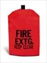 Small Heavy Duty Vinyl Fire Extinguisher Cover