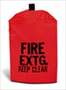 Large Heavy Duty Vinyl Fire Extinguisher Cover