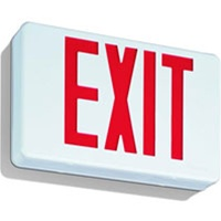 LED Red Exit Sign with battery backup supplied by Fire Extinguishers Chicago, Protectco Inc